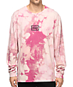 Obey Typewriter Mag Pink Bleach Long Sleeve T-Shirt