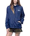 Obey Vanity Fair Navy Hooded Coach's Jacket