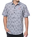 Odd Future All Over Donut Charcoal Button Up Shirt