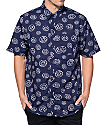 Odd Future All Over Donut Navy Button Up Shirt