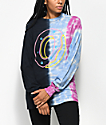 Odd Future Donut Split Tie Dye Long Sleeve T-Shirt