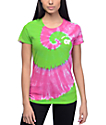 Odd Future OF Green & Pink Tie Dye T-Shirt