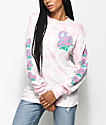 Odd Future Rose Light Pink Crystal Long Sleeve T-Shirt