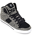 Osiris Clone Black & Grey Knit Skate Shoes