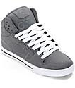 Osiris Clone Grey & White Denim Skate Shoes
