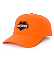 Petals & Peacocks Heartbreaker Orange Strapback Hat