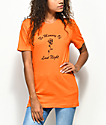 Petals & Peacocks No Memory Orange T-Shirt