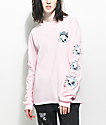 Pink Dolphin Always Wavy Pink Long Sleeve T-Shirt