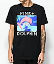 Pink Dolphin Bound Portrait Black T-Shirt
