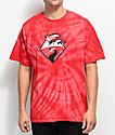 Pink Dolphin Waves Horizon Red Tie Dye T-Shirt