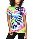 Pink Dolphin Waves Multi Tie Dye T-Shirt
