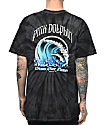 Pink Dolphin Waves Over Flames Tie Dye T-Shirt