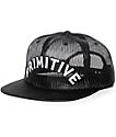 Primitive Arch Mesh Black Snapback Hat