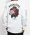 Primitive Bloom White Long Sleeve T-Shirt