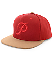 Primitive Classic P Canvas Red Snapback Hat