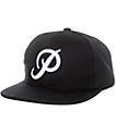 Primitive Classic P Pro Style Black & White Snapback Hat