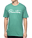 Primitive Nuevo Script Heather Kelly Green T-Shirt
