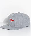 Primitive Pennant Heather Grey Snapback Hat