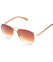 Pulp Fiction Wood Arm Aviator Sunglasses