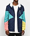 Quiet Life Pacific Navy & Coral Windbreaker Jacket