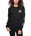 REBEL8 Centifolia Black Long Sleeve T-Shirt