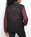 REBEL8 Foretold Charcoal & Burgundy Jacket