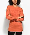 REBEL8 Scriptum Burnt Orange Long Sleeve T-Shirt