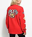 REBEL8 Speedway Red Long Sleeve T-Shirt