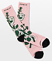 RIPNDIP Botanical Pink Crew Socks