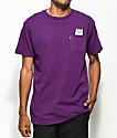 RIPNDIP Lord Nermal Plum Pocket T-Shirt