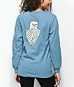 RIPNDIP Safari Nermal Baby Blue Long Sleeve T-Shirt