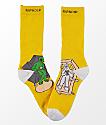 RIPNDIP Therapy Yellow Crew Socks