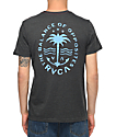 RVCA Anchor Palm Black & Blue T-Shirt