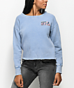 RVCA Block Ace Blue Crew Neck Sweatshirt