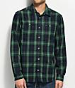 RVCA Bone Green & Navy Flannel Shirt