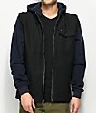 RVCA Breaker Breaker Navy & Black 2fer Jacket