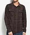 RVCA Camino Brown, Navy & Burgundy Flannel Shirt