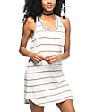 RVCA Deviate White Striped Pocket Tank Dress