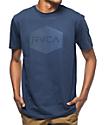 RVCA Halftone Hex 2 Navy T-Shirt