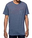 RVCA Level Navy Stripe Pocket T-Shirt