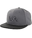 RVCA VA II Black & Grey Snapback Hat