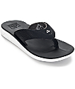 Reef Rover Black & White Sandals