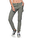 Rewash Hana Olive Stretch Cargo Skinny Pants