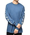 RipNDip Cats Blue Wash Long Sleeve T-Shirt
