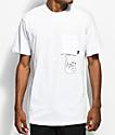RipNDip Falling For Nermal White Pocket T-Shirt