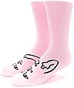 RipNDip Lord Nermal Twins Pink Crew Socks