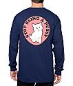 RipNDip Stop Being A Pussy Navy Long Sleeve T-Shirt