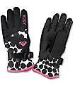 Roxy Jetty Irregular Dots Snow Gloves