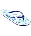 Roxy Portofino Blue Print Sandals