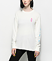 Roxy Tribal Diamond White Long Sleeve T-Shirt